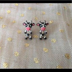 Betsey Johnson Cow Earrings